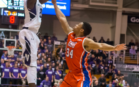 Scottie Lindsey shoots a 3-pointer. The sophomore guard keyed Northwestern's victory over Minnesota, coming off the bench and shooting 4-of-6 from the field.