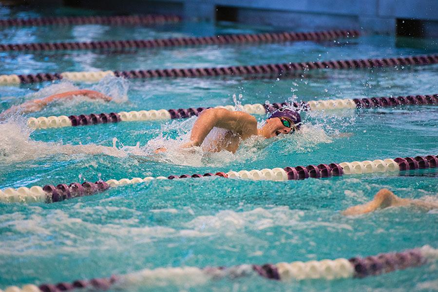 Anthony Marcantonio races against opponents. The freshman has shined for the Wildcats this season and coach Jarod Schroeder has said he is impressed by all the freshmen.