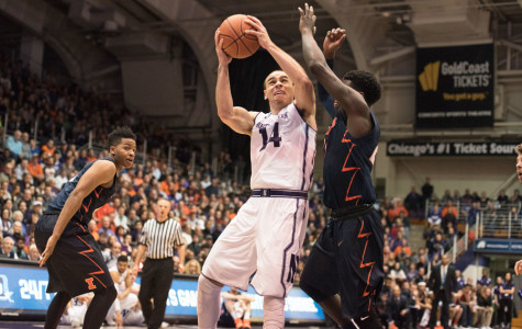Men's Basketball: Northwestern escapes with win against Illinois in low-scoring affair