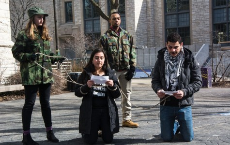Divestment campaigns unite for detained prisoners demonstration