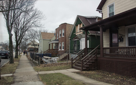 Homes line the block of Dodge Avenue between Church Street and Lyons Street in Evanston's 5th Ward. Residents identified access to affordable housing as an issue in both the ward and the city at large.