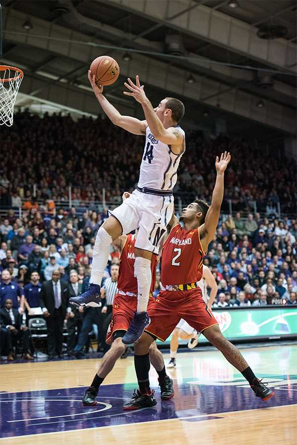Tre Demps leaps toward the basket. The senior guard turned the ball over a game-high four times.