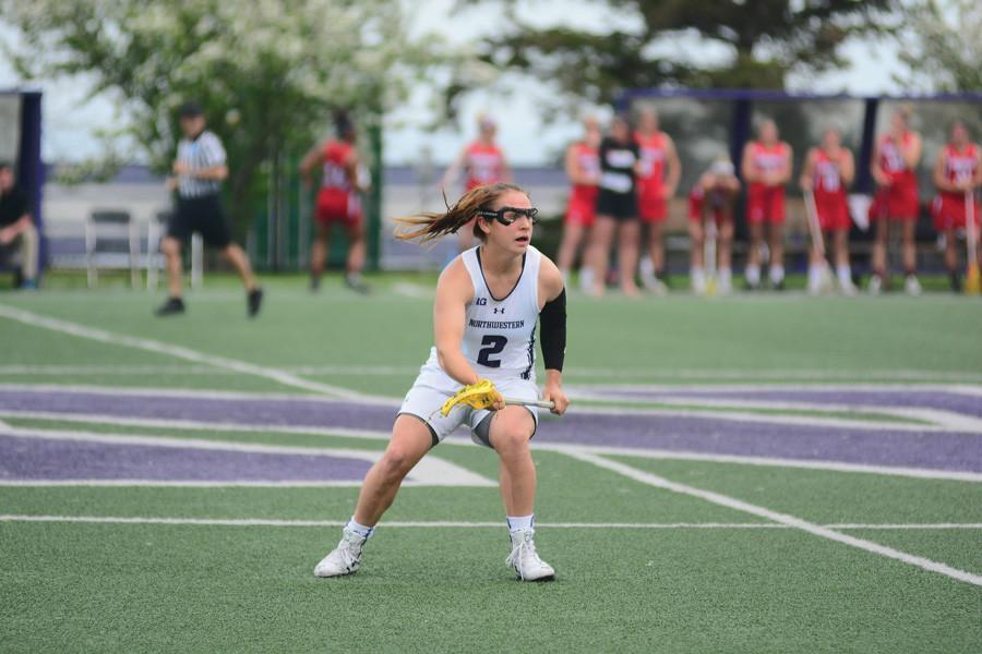 Selena Lasota runs around the defense. The sophomore superstar picked up a preseason all-American award, Lacrosse Magazine announced Tuesday.