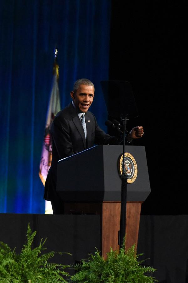 President+Obama+speaks+to+the+International+Association+of+Chiefs+of+Police+in+Chicago+in+October.+On+Wednesday%2C+Obama+addressed+the+Illinois+General+Assembly+in+Springfield%2C+where+he+declared+his+presidential+candidacy+nine+years+ago.