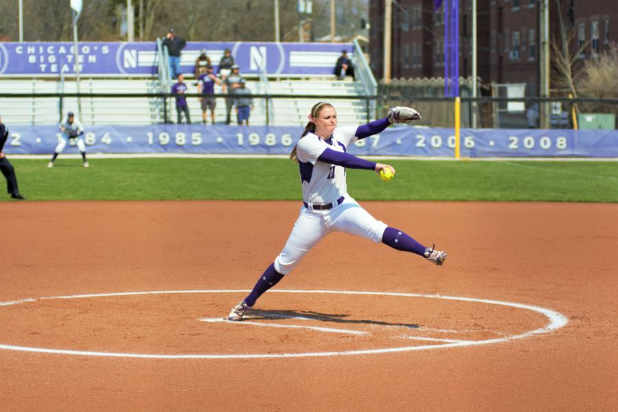 Kristen Wood delivers a pitch. The senior started a team-high 32 games last season.