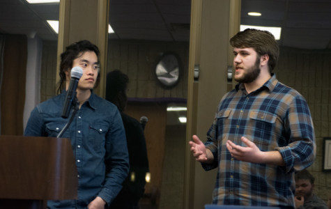 Senators Kevin Luong and Erik Baker describe the underrepresentation of multicultural Greek associations. Changes to ASG constitution and code were introduced to give all four Greek associations two representatives each.
