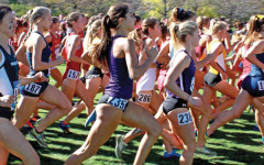 A pair of Northwestern runners take off at the starting line. The Wildcats' new coach believes the team is well prepared for the outdoor season.