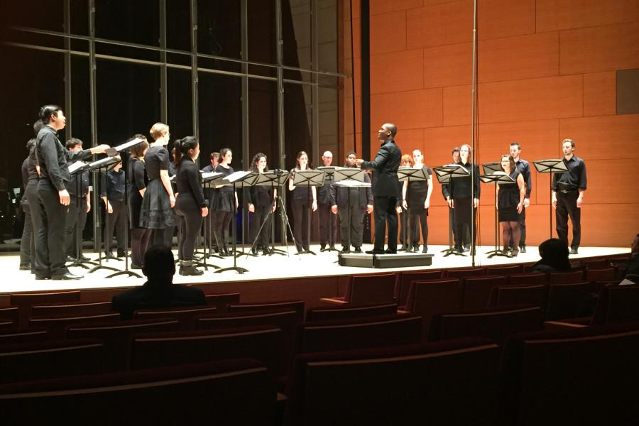 Bienen School of Music students perform in a concert honoring the Black Lives Matter movement and victims of police brutality. The concert was held Sunday at the Mary B. Galvin Recital Hall.