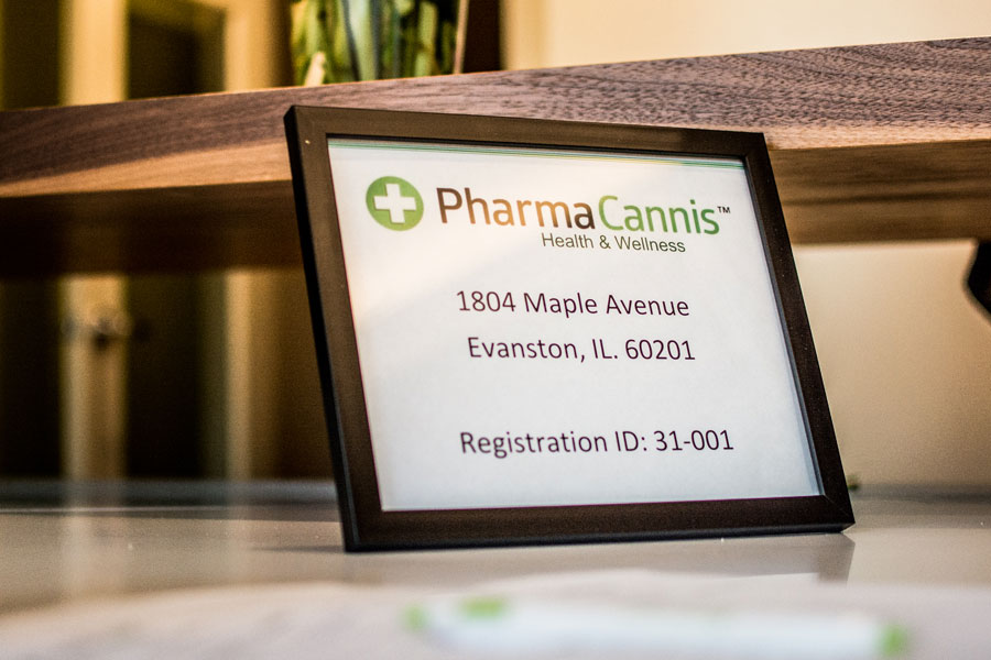 Pharmacannis, 1804 Maple Ave., is the only medical marijuana provider in Evanston. Despite some state reports of low patient enrollment at dispensaries, a Pharmacannis employee said the business is doing well.