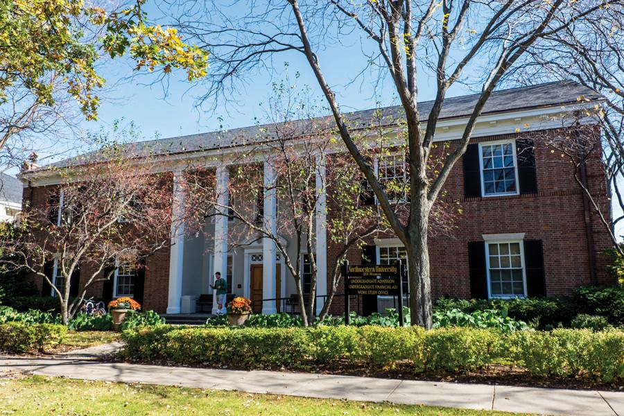 The Office of Financial Aid, 1801 Hinman Ave, shares a building with the Office of Undergraduate Admissions. Northwestern announced Thursday new financial aid initiatives including all-grant financial aid packages, a cap on need-based loans for current students set at $20,000, University-funded scholarships for undocumented students and increased aid for international students.