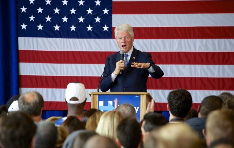 Former President Bill Clinton stresses Hillary Clinton's record fighting for equality at Evanston campaign event
