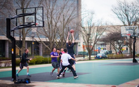 Basketball courts outside Plex, Bobb get makeover