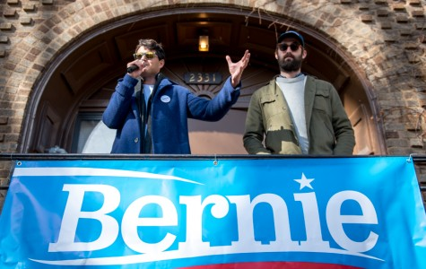 Vampire Weekend campaigns for Bernie Sanders, leads students to polls