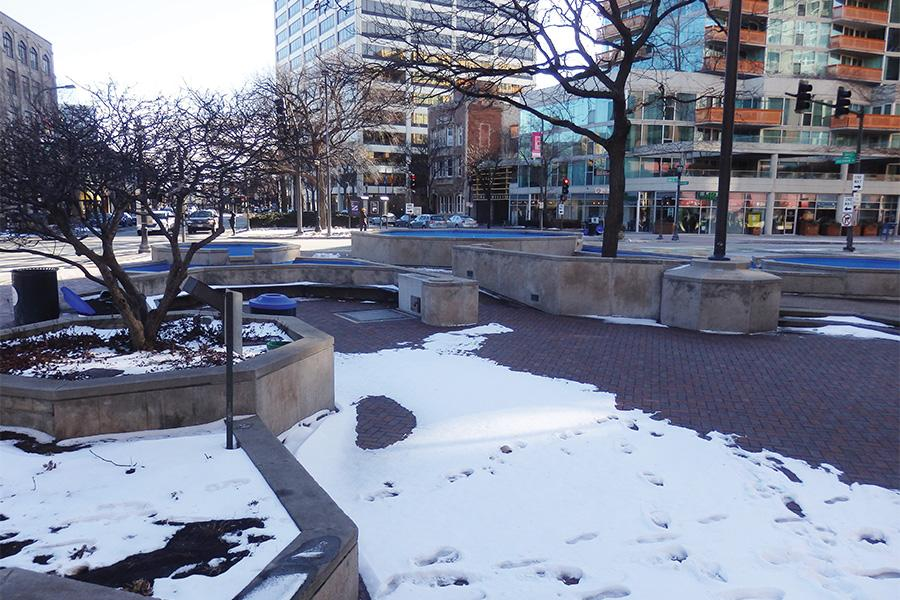Renovations to Evanston's Fountain Square, the existing structure of which was set in 1976, are expected to begin sometime in 2017. Christopher B. Burke Engineering, Ltd.  will serve as the engineering firm for the renovations.