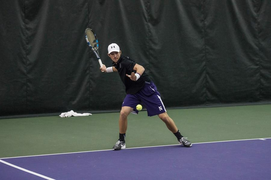 Strong Kirchheimer readies a forehand. The junior's performance over the last week has helped Northwestern to a 17-2 start.