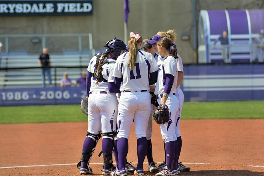 Northwestern+meets+at+the+mound.+The+Wildcats+will+be+participating+in+their+first+ever+Judi+Garman+Classic+this+weekend.+