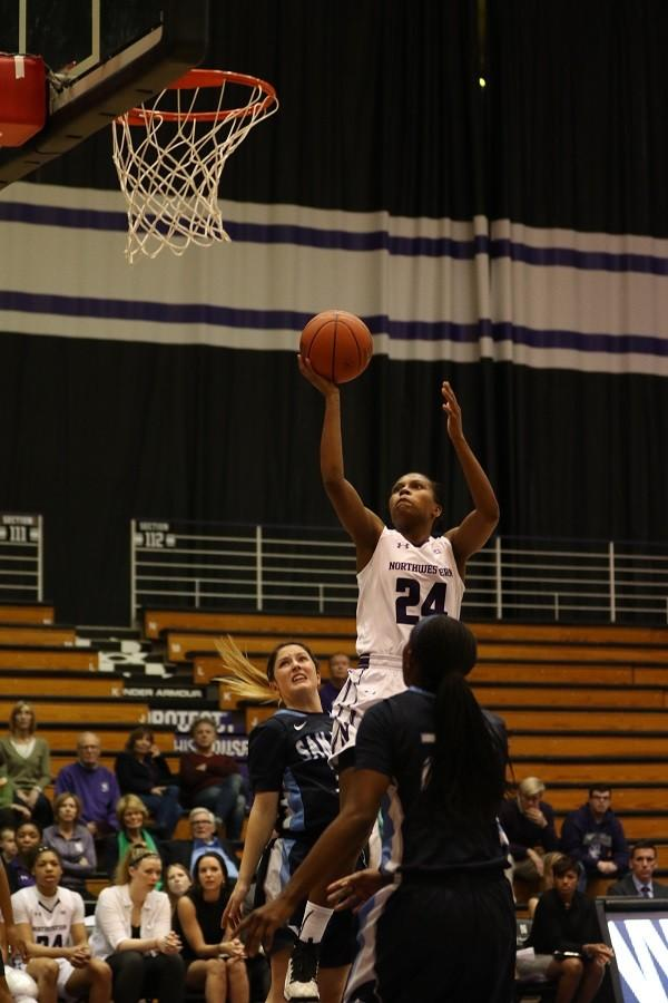 Christen Inman attempts a layup. The junior guard struggled mightily for the Wildcats on Thursday, shooting just 3-of-14 from the field.