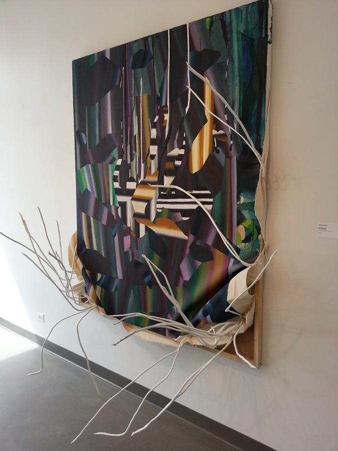 """""""Dimethylamine"""" by Melody Saraniti is one of the paintings on display as part of Evanston Art Center's exhibit """"Dialogue Chicago: 12."""" The exhibit was organized as a celebration of the fifteenth year of Dialogue Chicago, a supportive community for local artists to practice."""