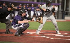 Jack Claeys frames a pitch. The sophomore hit 2 RBIs in the Wildcats' 12-10 win over Chicago State on Tuesday.