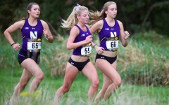 Northwestern runners compete in a race. The Wildcats had two athletes set personal records at the San Francisco Distance Carnival.