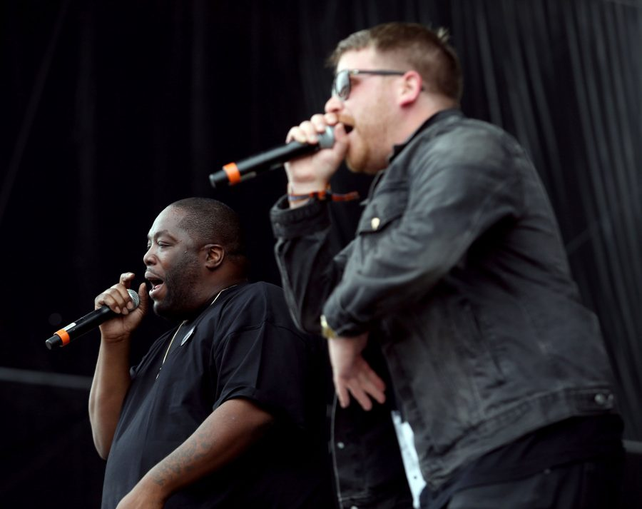 Killer Mike (left) and El-P perform as Run the Jewels in August. Killer Mike will speak on campus in May as part of the Contemporary Thought Speaker Series.