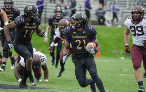 Justin Jackson carries the ball. The junior running back was third in the nation in 2015 with with 312 carries.