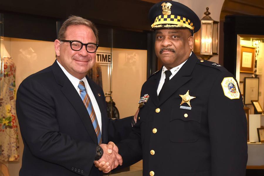 Eddie Johnson (right).