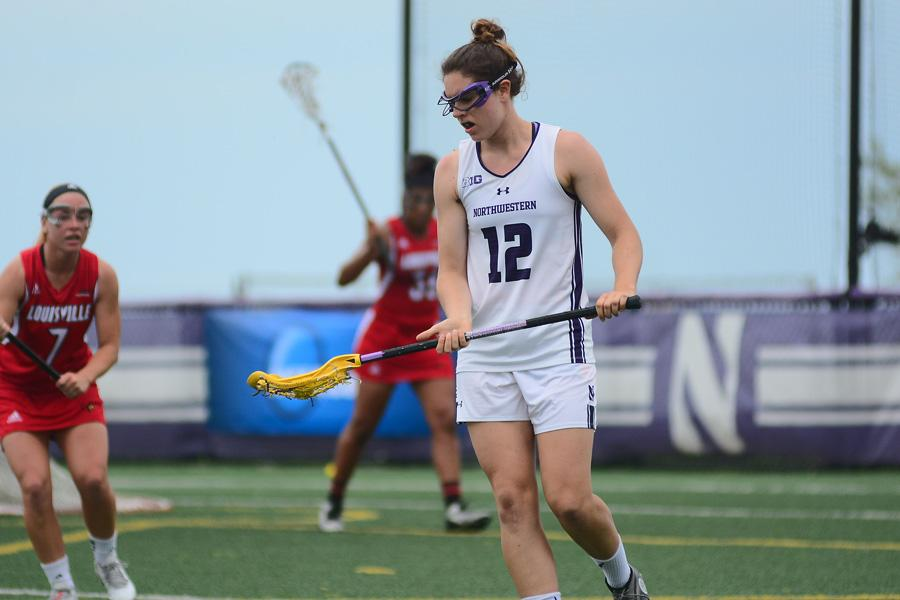 Kaleigh Craig ponders her next move. The senior midfielder leads the Wildcats in goals this season with 22.
