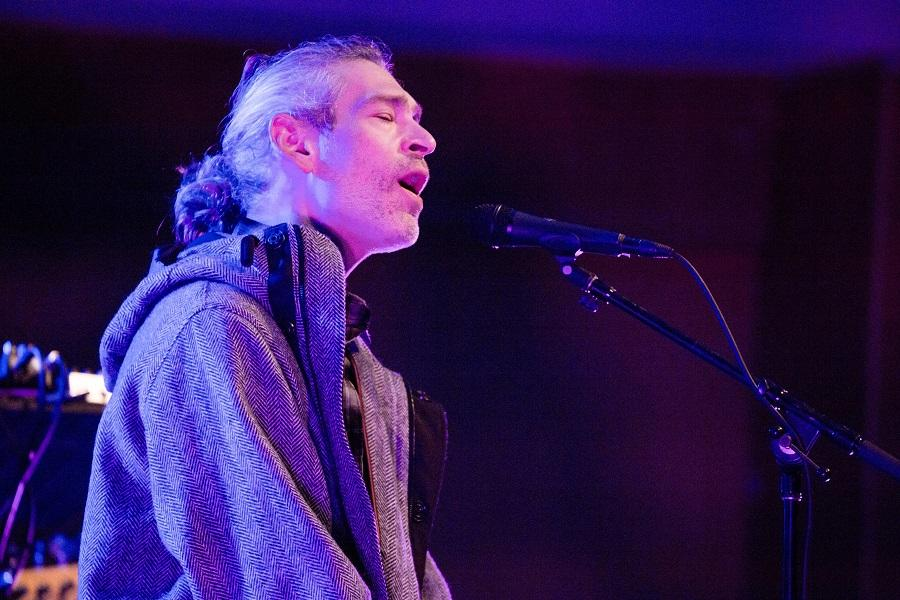 Matisyahu performs at Pick-Staiger Concert Hall. The Jewish musician and rapper also discussed his faith during the performance Thursday.