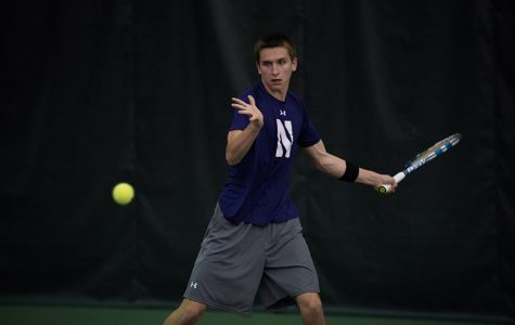 Men's Tennis: Northwestern ties program record for wins on senior day
