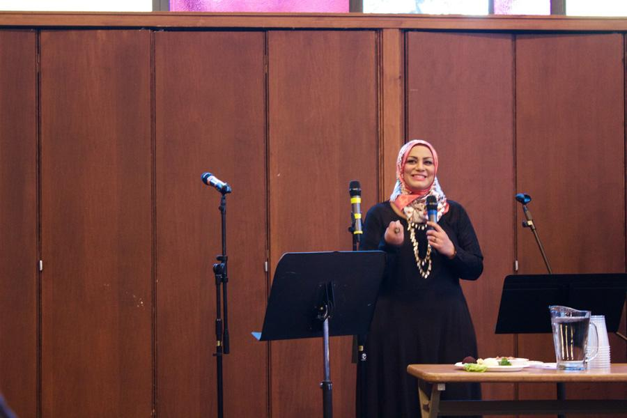 Tahera Ahmad, associate chaplain and director of interfaith engagement, speaks at the Jewish Council on Urban Affairs' annual Freedom and Justice Seder on Monday evening. With over 300 people present at the event, the focus of this year's Seder was Islamophobia and standing up for Muslims within the Chicago community.