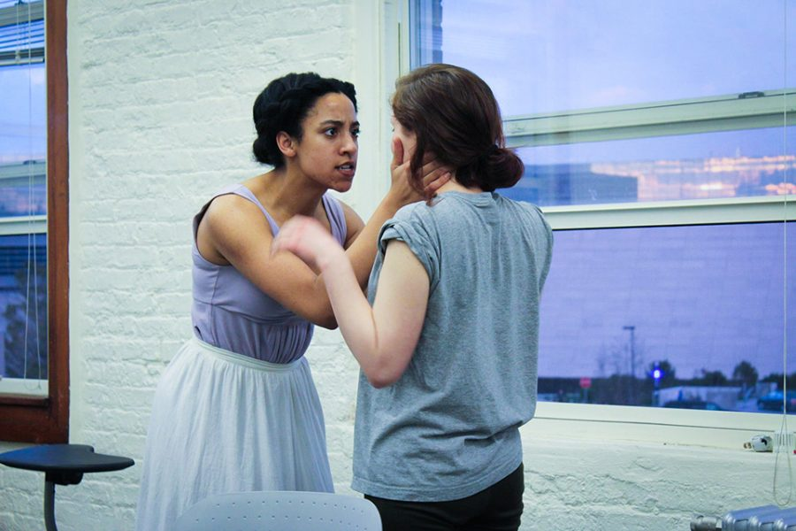 Students+rehearse+for+Arts+Alliance%E2%80%99s+upcoming+production+of+%E2%80%9CA+Streetcar+Named+Desire.%E2%80%9D+The+show+will+be+presented+off+campus+in+Chicago%E2%80%99s+Wicker+Park+neighborhood+to+give+audience+members+a+comprehensive+experience.+
