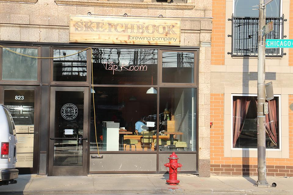 The Tap Room, an extension of Sketchbook Brewing Co., opened Friday at 821 Chicago Ave. The new space currently offers 11 different beers on tap and free Wi-Fi.