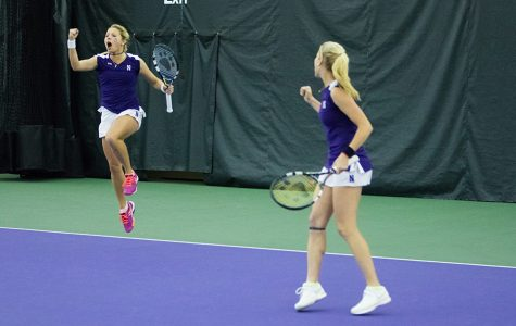 Women's Tennis: Wildcats sweep final regular season weekend, highlighted by upset of Michigan