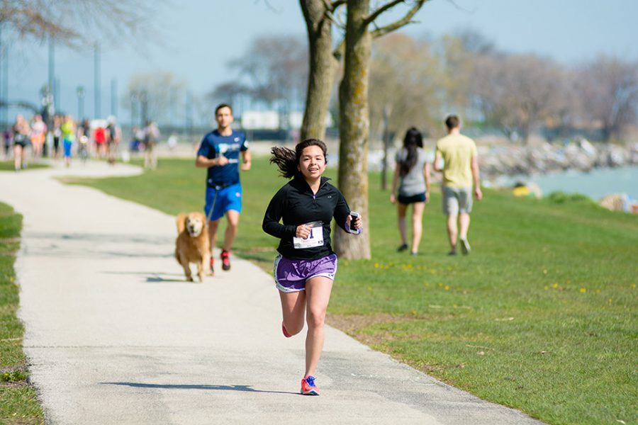 McCormick junior Wendy Roldan runs in a 5K hosted by Northwestern's International Gender Equality Movement. The 5K had roughly 55 participants and raised more than $1,500.