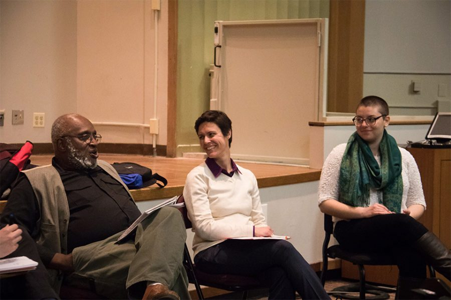 Panelists discuss balancing student activism and academics. The event was hosted by Educate Discuss Unite and focused on the challenges of student activism.