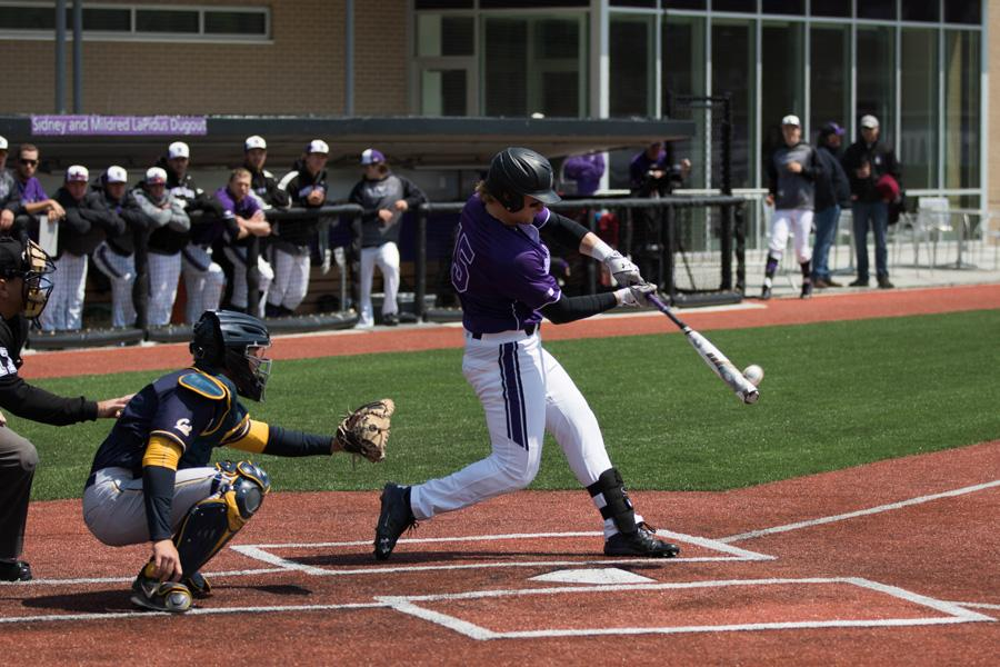 Connor Lind hits the baseball. The junior third baseman has been a rock for the Wildcats, starting all 51 games.