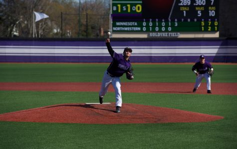 Tommy Bordignon releases the ball. The sophomore started Sunday's series finale and threw 5.1 innings of shutout ball.