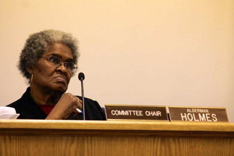 Ald.+Delores+Holmes+%285th%29+speaks+at+a+City+Council+meeting.+Holmes+moved+to+hold+the+allocation+of+waste+transfer+station+fees+until+a+meeting+was+planned+for+impacted+residents+to+provide+input+on+how+to+spend+the+money.