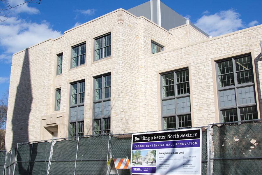 Kresge Hall is nearing the end of its two year renovation and addition project. The upgraded building will open to students Fall Quarter.
