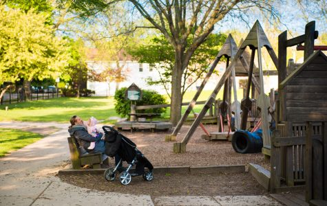 Penny Park playground reconstruction to maintain wood design in safety upgrades