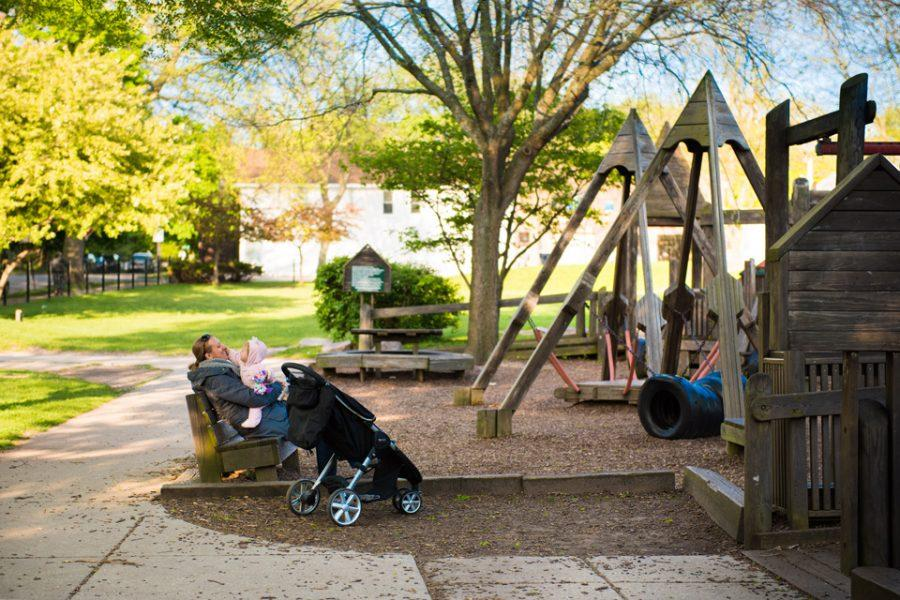 Penny+Park%E2%80%99s+playground+is+set+to+begin+reconstruction+after+Labor+Day.+City+officials+said+the+new+structure+will+comply+with+Americans+with+Disabilities+Act+and+federal+playground+safety+standards+while+maintaining+a+wood+design+similar+to+the+original%27s.