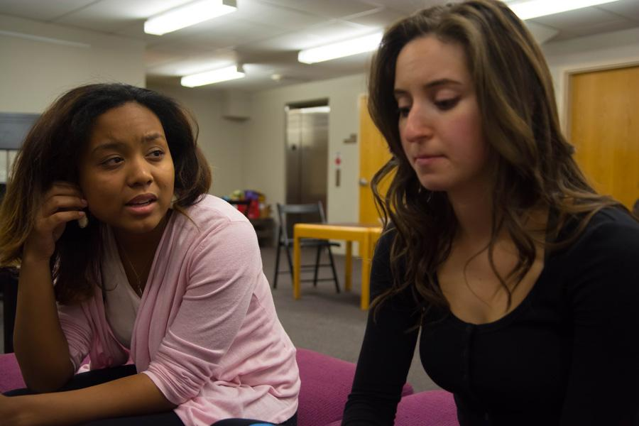 """Students rehearse for the upcoming play """"Stunning,"""" which will run from May 26 to May 28 in Shanley Pavilion. The play explores a variety of themes including sexuality and ethnicity."""