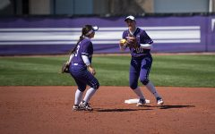 Andrea Filler prepares to throw out a runner. The senior infielder recorded 2 RBIs in the loss to DePaul on Wednesday.