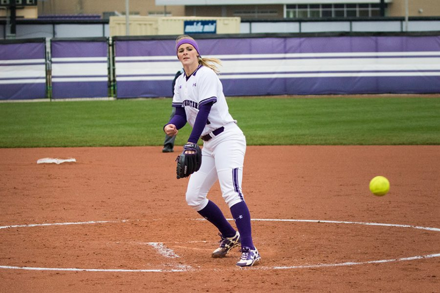 Kristen+Wood+fires+a+pitch.+The+senior+will+be+crucial+in+controlling+Oklahoma+State%E2%80%99s+hitting+in+the+team%E2%80%99s+NCAA+Tournament+game+on+Friday.+