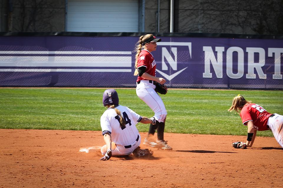 Alcy Bush slides into second. The junior said she recognized the importance of the Cats' upcoming slate ahead of Wednesday's contest.