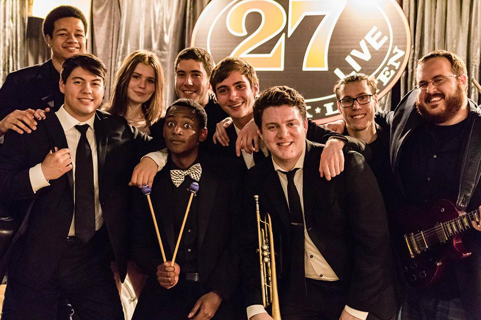 The Syndicate poses after winning the Battle of the Bands last Thursday. The group will perform at Dillo Day on Saturday.