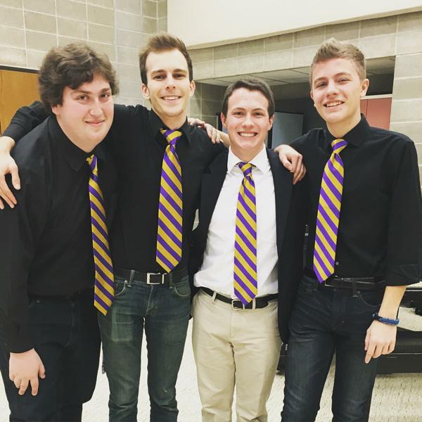 (From left) Elio Bucky, Henry Koch, Jack Reeder, Ben Perri