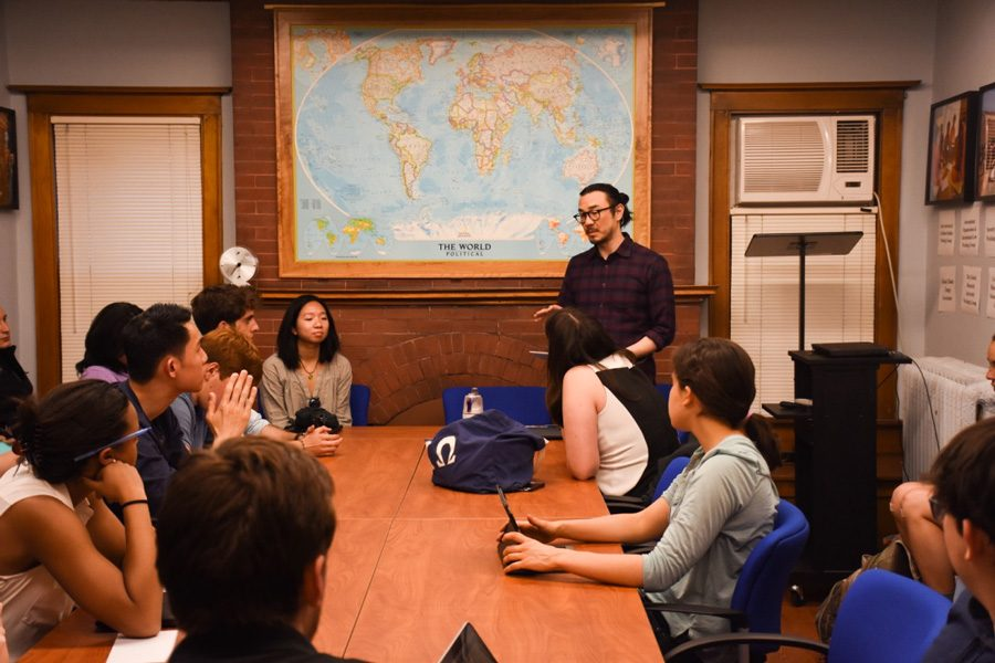 Students participate in a Political Union-sponsored debate about affirmative action. More than 50 students attended the event, which was co-sponsored by Asian Pacific American Coalition.