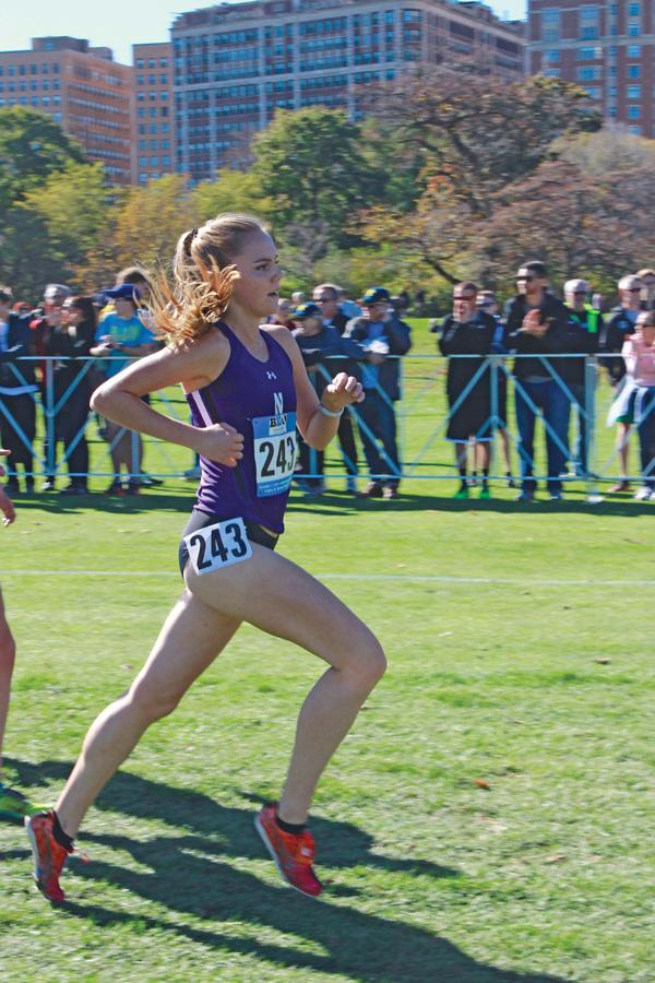 A Northwestern runner competes in a race. The Wildcats failed to earn any NCAA Preliminary berths this season.